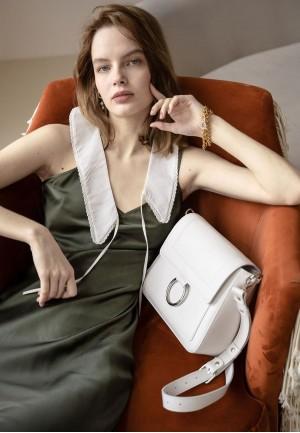 Жіноча шкіряна сумка Jessie біла