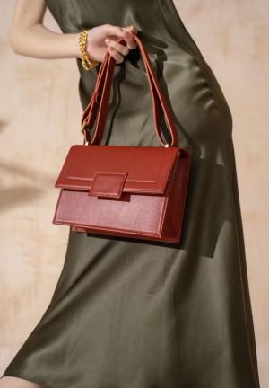 Жіноча шкіряна сумка Kelly червона