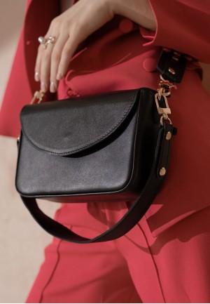 Жіноча шкіряна сумка Molly чорна