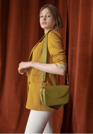 Жіноча шкіряна сумка Molly оливкова